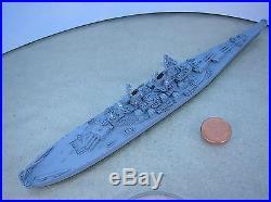 1/1200-1/1250 Neptun 1300 USS WISCONSIN (BB-64) Battleship metal ship model USED