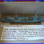 1/1250 SARATOGA MODEL SHIP YARD USS MELVILLE (AD-2), U. S. DD Tender 1, #SMY 10