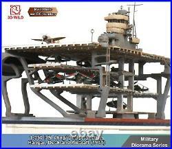 1/350 IJN Akagi Aircraft Carrier Bridge Section Hangar & Deck Finished Diorama