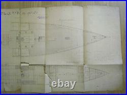 1 MAHART HUNGARY Österreich AUSTRIA GERMANY REGENSBURG MARINE SHIP PLAN 1894