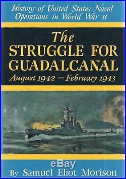 15 Volume History of U. S. Naval Operations WW II Samuel Eliot Morison HB/DJ War