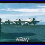 17 Original Red Border Slides Uss Randolph 1957-59 Fighter Planes