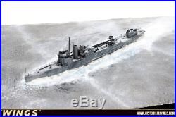 1700 Pro Built Ship Model HMS Campelwood with realistic Sea Base