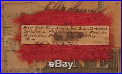 1864 CIVIL War Flag Relic From The Ironclad Ram Csn Tennessee