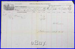 1869 Customs Shipping Document for 3 Cases of Guns via Delaware & Raritan Canal