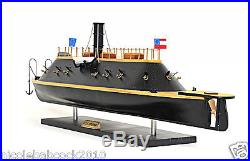 18TH CENTURY CONFEDERATE IRONCLAD 28 WAR SHIP CSS Virginia Painted