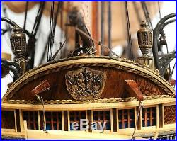 18th Century SHIP MODEL 37-inch Wooden HMS Surprise Warship Collectable Decor