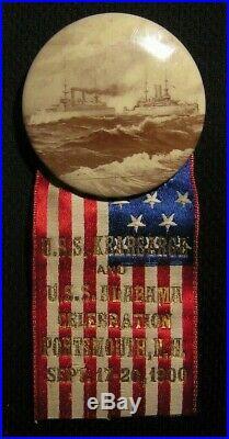 1900 Uss Kearsarge Alabama Celebration Pin Portsmouth Nh Navy Great White Fleet