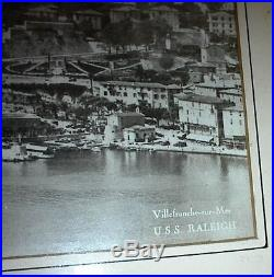 1936/1937 U. S. S. RALEIGH (CL-7), French Riviera, Original 17.5 X 6.5 Photograph