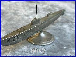 1939 USS SQUALUS SALVAGE UNIT Heavy Metal Submarine Desk Model Paperweight