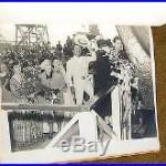 1942 Liberty Ship FELIPE DE NEVE Launching CUSTOM PHOTO ALBUM Leo Carrillo WW2