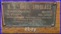 1942 Navy Spy Glass with wooden case