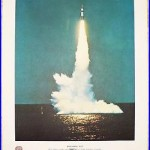1962 Usn Us Navy Polaris A 3 Ballistic Missle Launch Art Photo Print