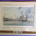 1976 SIgned Ltd Ed John Stobart Print Ship, Fairfax Leaving Alexandria #508 /750