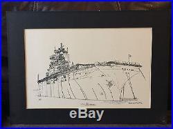 1979 Frances Smith USS Nassau (LHA-4) Commissioning ARTIST PROOF Signed