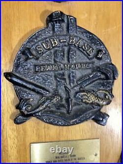 1986 Plaque Pearl Harbor Submarine Base Sailor Of The Quarter