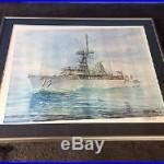 1994 USS Buchanan (DDG-14) Casey Holtzinger Signed Print 24 x 19