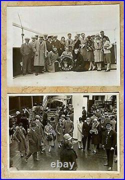 (2) ORIGINAL WW2 GERMAN SS STUTTGART STRENGTH THROUGH JOY CRUISING PHOTO's