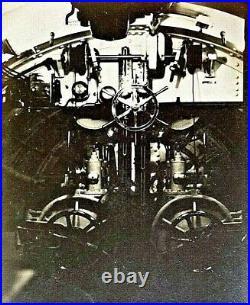 (2) Original Ww1 U. S. Navy Submarine Torpedo Room Interior Photo Postcard's