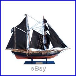 24 Black Prince SHIP MODEL Revolutionary War Wood Replica Sailboat Display Gift