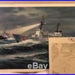 24x18 Lithograph CGC HAMILTON Coast Guard Cutter Art Shogren 1967 Reliance Print
