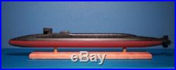 3' Long USS Ohio Class SSGN Nuclear Submarine Model with Dual DDS 1/192nd Trident