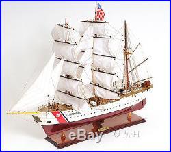 36 Inches. U. S Coast Guard Eagle E. E Handmade Wooden Sail Boat Model