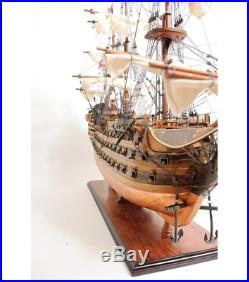 38 Wooden SHIP MODEL With COPPER BOTTOM Nelson's HMS Victory Military Warship