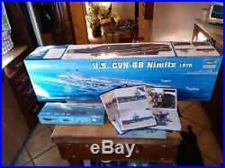 3ft AIRCRAFT CARRIER Model US CVN-68 Nimitz 1975 1350 Kit Trumpeter -Complete