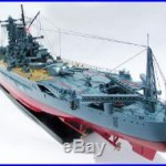 47 Musashi Japanese Battleship Model Ready for Display