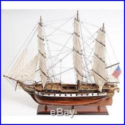 56-inch US NAVY WAR SHIP Wooden Model USS Constellation Military Collectable Art