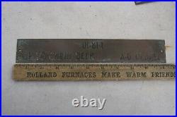 6 Vintage Navy Brass Ship Information Plate Sign Cruise Liner Captain Cabin Deck