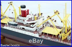 AMERICA SCOUT C2 Cargo Ship 34 Handmade Wooden Model Ship NEW
