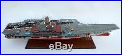 Admiral Kuznetsov Russian Aircraft Carrier Model 40 Handmade Wooden Scale 1/300