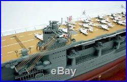 Akagi Japanese aircraft carrier display mahogany wood custom model