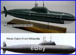 Alfa Class Russian Navy Submarine Desktop Kiln Dry Wood Model Regular