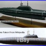 Alfa Class Russian Navy Submarine Desktop Wood Model Regular