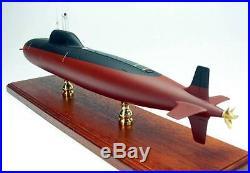 Alfa Russian attack submarine display mahogany wood custom model