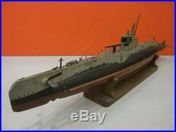 All Original Large Submarine S32 Wooden Model Handpainted Ww2