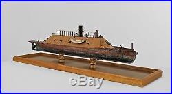 American Victorian Ship Model of the Ironclad Civil War Confederate CSS Virginia