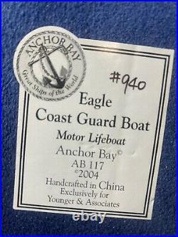 Anchor Bay By Harbor Lights US Coast Guard Motor Life Boat The Eagle