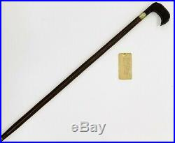 Antique Carved Cane Walking Stick RELIC wood of the U. S. S CONSTITUTION 1875