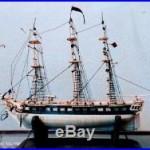 Antique Prisoner of War 28 Gun Frigate Bone Model Ship needs repairs