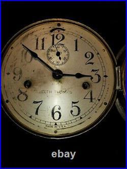 Antique Ships Clock and Key- Seth Thomas- USA(b3)