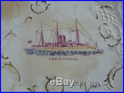 Antique USS Nashville OC Co. Ohio China Company Steamship Porcelain Plate