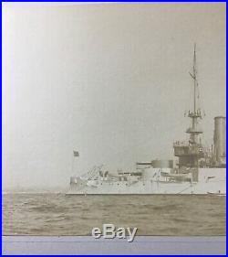 Antique Uss Kentucky (bb-6) Battleship Albumen Photo