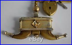 Antique Victorian Naval Ships #2 Asst Steward Faux Claw Watch Fob Gold Pendant