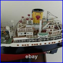 Antique / Vintage Museum Quality Model Ship SHELL OIL TANKER HARVELLA