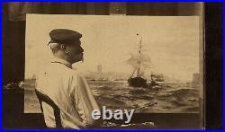 Antique1898 Framed 1st Recognition Of American Flag John Paul Jones USS Ranger