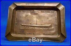 AshtrayEx German Sumarine DEUTCHLAND ROBERT SMITH&SONS BIRKENHEAD/ DS 1923